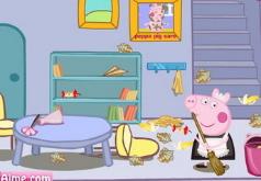 Игры Свинка Пеппа убирает в комнате