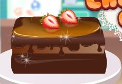 игры двухслойной шоколадный торт