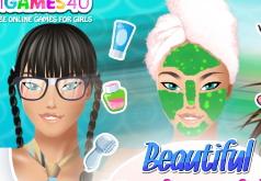 игры красивая венецианская девушка макияж