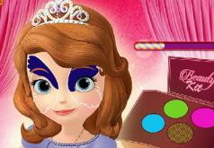 Игры Раскрась лицо Софии