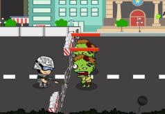 Игра Зомби в городе Задержание