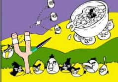 Игры Злобные птички Раскраска