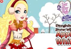 Игры Одевалка Эппл Вайт Эпическая зима