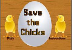 Игры Сохранить цыплят от коршунов