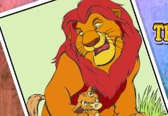 игры раскрась маленького львенка