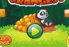Игра Панда и апельсины 3д