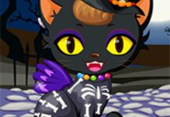 Игра Одень Кошку к Хэллоуину