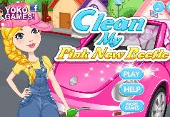 Игра Мойка розовой машинки