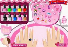 игра хелло китти красить ногти