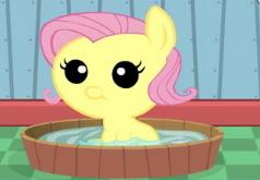 Игры Мой Маленький Пони Уход за малышкой Флаттершай