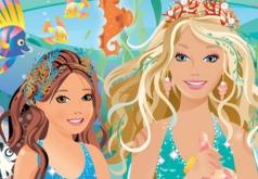 Игры Паззлы с Барби русалкой
