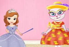 Игра София превращает Анжелу в принцессы