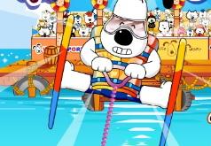 Игра Щенок на водных лыжах
