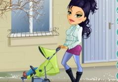 игры одевалки мам с дочками и колясками
