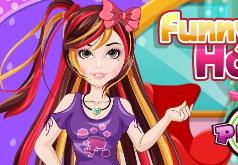 Игра Прически для забавной девушки
