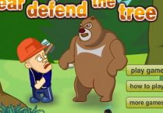 Игра Медведи соседи Медведь защищает дерево