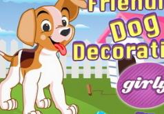 Игра Укрась дружелюбную собаку