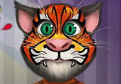 Игры Разукрашиваем лицо говорящему коту Тому