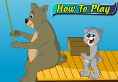 Игры медведь рыбак
