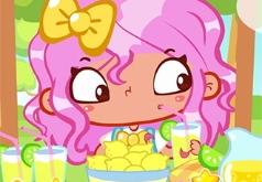 Игры Безделье Сара продает лимонад