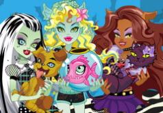 игры для девочек монстр хай уход за животными