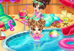 Игры Уход за малышкой перед бассейном