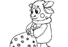 лунтик игра раскраска для малышей