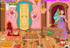 Игра для девочек Уборка вместе с Рапунцель
