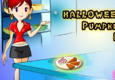 Игры Хэллоуинский пирог из тыквы