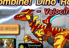 Игры робот динозавр раптор