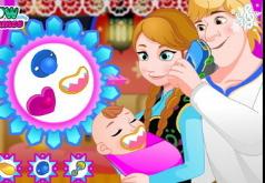 Игра Анна и Кристофф Уход за новорожденной принцессой