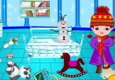 Игры Холодное сердце уборка в комнате Норы