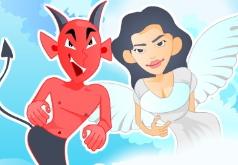 Игры Ангел и Дьявол поцелуй