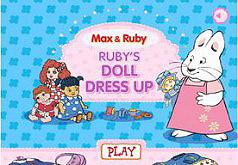 Игра Руби наряжает куклу
