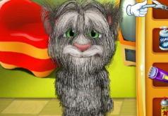 Игра Говорящий кот Том Побрейте малыша