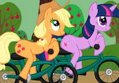 игра пони на велосипедах