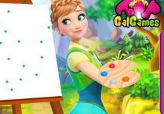 Игры Анна в школе рисования