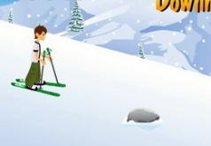 Игры Бен 10 на горных лыжах