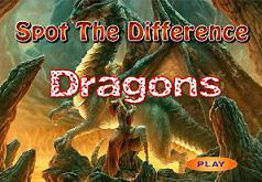 Игра Найти отличия на картинке с драконом