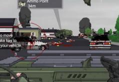 игра стрелять зомби на машине