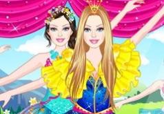 Игры Барби розовые балетки