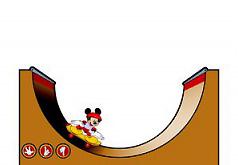 Игры Микки на скейтборде