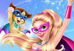 Игра для девочек Барби Супер героиня