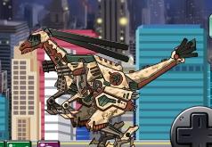 Игры Дино робот Галлимимуc