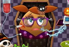 Игры Хэллоуинская помощь для девчонки Пу
