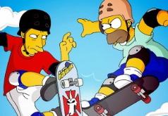 Игра Раскраска Симпсоны на скейте