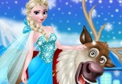 Игра Рудольф и Эльза в замороженном лесу