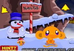 игра счастливая обезьянка северный полюс