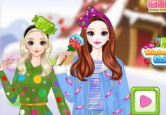 Игры Зимние яркие цвета