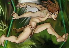 Игры Тарзан возле водопада